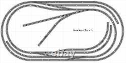 Train Layout #015 DCC Bachmann HO EZ Track Nickel Silver 4' X 8' Train Set