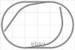 Train Layout #019 Bachmann HO EZ Track Nickel Silver 4' X 6' Train Set