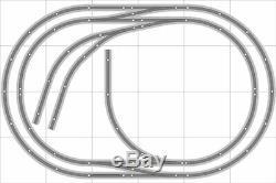 Train Layout #020 Bachmann HO EZ Track Nickel Silver 4' X 6' Train Set