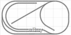 Train Layout #031 Bachmann HO EZ Track Nickel Silver 4' X 8' Train Set