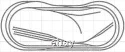 Train Layout #034 Bachmann HO EZ Track Nickel Silver 5' X 12' Train Set