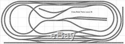 Train Layout #035 Bachmann HO EZ Track Nickel Silver 5' X 14' Train Set