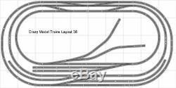 Train Layout #038 Bachmann HO EZ Track Nickel Silver 5' X 10' Train Set
