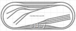 Train Layout #039 DCC Bachmann HO EZ Track Nickel Silver 5' X 12' Train Set