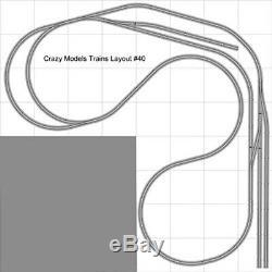 Train Layout #040 DCC Bachmann HO EZ Track Nickel Silver 8' X 8' L Train Set