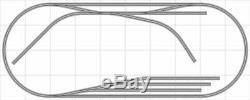 Train Layout #041 Bachmann HO EZ Track Nickel Silver 4' X 10' Train Set