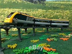 TrixBrix Pillars Bundle with R56 Curved Tracks, 3d printed Lego train compatible