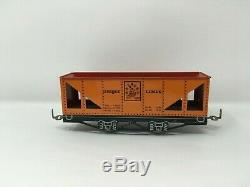 UNIQUE LINES Tinplate Lithographed Mechanical Train Set with Track & Box