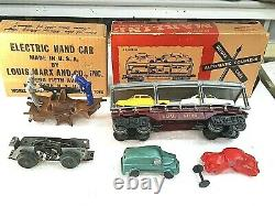 Vintage 1940's Louis Marx STREAM LINE Model 25000 Steam O Scale Train Set, 999