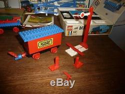 Vintage 1970s Boxed Railway Lego -Loco / Motor / Track / Crane Truck / Wagon etc