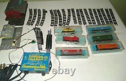 Vintage ATLAS N Gauge Train Set, power supply, tracks, Depot & train station