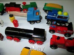Vintage BRIO Train Set 150+ pc LOT Toy Wooden Track Engines Sweden 20+ Lbs MINT