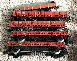 Vintage Huge Set Electric Marklin HO Locomotives Train Cars Track Transformer