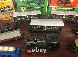 Vintage Marklin H. O. Train Set 3029 Locomotive, Track, Box Cars MORE