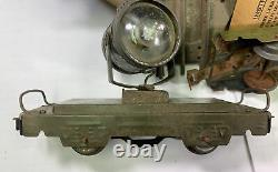Vintage Marx Army Military Supply Train Set With Track Complete Working