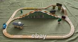 Vintage Thomas Wooden Railway 2000 Muffle Mountain Set Clickity Clack Tracks