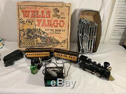 Wells Fargo Electric Antique Train Set 1960's, MODEL 54742 WITH TRACK