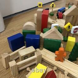 Wooden Train Track HUGE BUNDLE Job Lot Brio ELC BigJigs Thomas Compatible Set