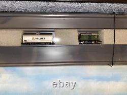 Z scale layout model railroad train set with brief case