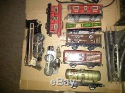 1940 Vintage Marx Tin Voitures Contrôleur Jeu Métal Toy Train Tracks Works