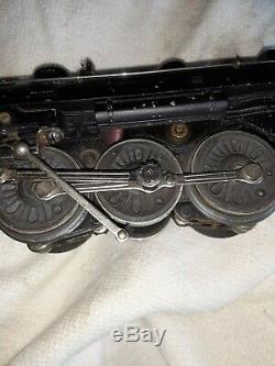 1947 Train De Lionel O-scale Set Avec Moteur # 224 Et 5 Voitures Transformateur Et Pistes