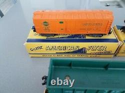 1950 Gilbert American Flyer 3/16 Scale Train Set Transformer Cars Track Euc