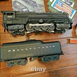 1950 Vintage Lionel Train Set Beaucoup De Pistes 6 Voitures Avec 1949 Manuel Etc