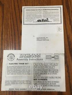1988 Bachmann Gaines Gravy Train Ho Set 5 Voitures, Moteur, Piste Et Transformateur Mib