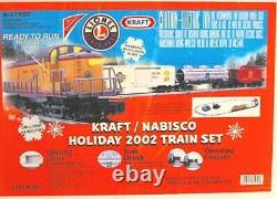2002 Lionel Train Set Kraft Nabisco Holiday With Oval Track Limited Edition