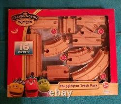 4 Sets Chuggington Trains Chemin De Fer En Bois Double-decker Roundhouse & Track Packs