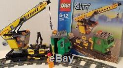 7898 Lego Cargo Train Deluxe100% Complete-instructions-nouveau Autocollants / Xtra Piste