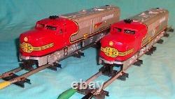 American Flyer Passenger Train Set 2 Diesels 4 Cars Track Transformer