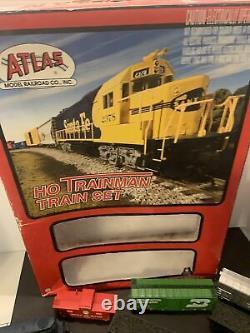 Atlas Ho Trainman Bnsf N&w Avec Rs Locomotive Train Set Avecbox + Voitures Et Pistes