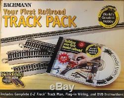 Bachman Argent Nickle Ho Premier Track Pack 45 Piece Set & Tech 3 Contrôleur De Train