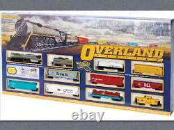 Bachmann 1/87 Ho Scale Overland Limited DC Train Set With Large Oval Track 614 F/s