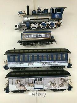 Bachmann Hawthorne Village Wolf Silver Moon Express Train Set Transformer Track