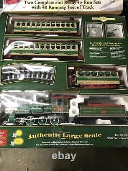 Bachmann Holiday Special Train And Trolley Set 90054 G Scale (40 Of Track)