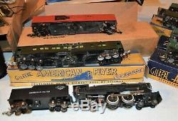 Belle 1947 Gilbert American Flyer 3 / 16e Échelle Train Piste Voitures Transformateur
