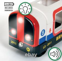 Brio 33513 Metro Ensemble De Chemins De Fer En Bois Avec 33867 Tube Train Et Extra Track Pack