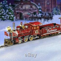 Budweiser Holiday Inn Express Locomotive Train Tracks & Hawthorne Village 30+ Pc