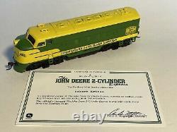 Danbury Mint John Deere 2 Cylindres Express Ho Scale Train & Track Set Rare
