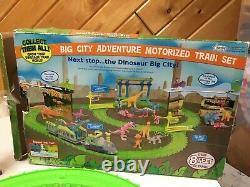 Dinosaur Train Big City Adventure Motorized Train Set Complete W Box 8 Ft Track