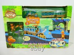 Dinosaur Train Motorized Set Sea Adventure Track Toy Learning Curve Pbs Nouveau