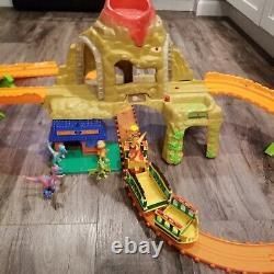 Dinosaur Train Train Track Motorized Set Fully Functional Volcano Time Tunnel