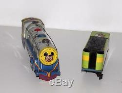 Disney1950'smickey Souris Meteor Train Set + Sonne & Bell Spark + Capacites Track