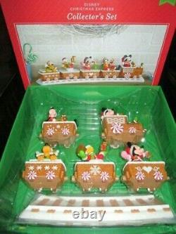 Ensemble De Boîtes Complètes Disney Christmas Express Gingerbread Train Tracks 2016 Hallmark