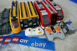 Ensembles De Trains De Voyageurs Lego Red Et Yellow City. 7938 Et 60197. Lego Train/tracks