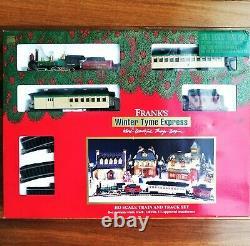 Frank's Winter Tyme Express Bachmann Ho Train Track Rare Set 4-4-0 Steam Loco
