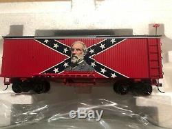 Hawthorne Village CIVIL War Confédérés Train Express Voitures Set Et Piste Nib