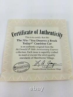 Hawthorne Village Mcdonalds Train Réglé Avec Des Voies Ferrées Et Des Certificats Pour Chaque Voiture